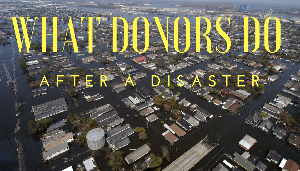 What Donors Do After A Disaster