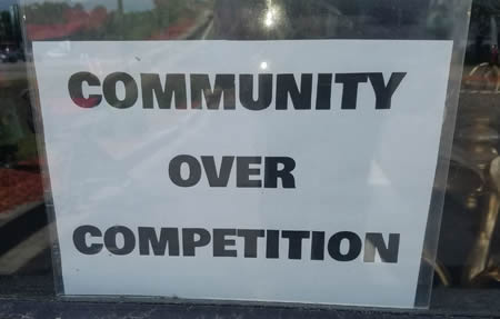 community over competition
