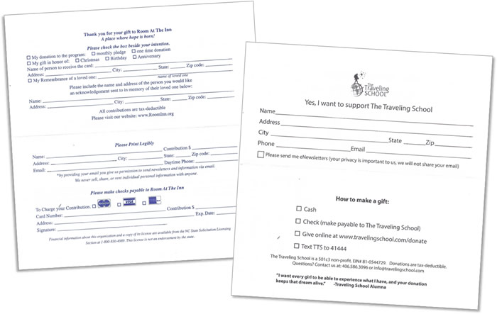 self mailer examples