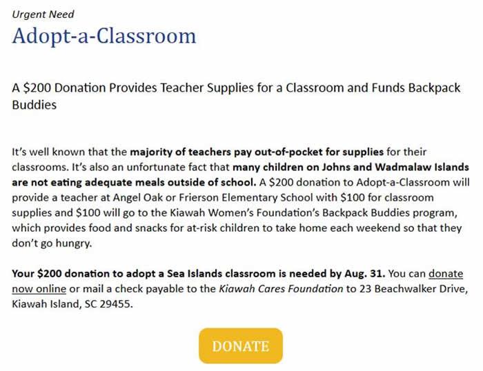 urgent need adopt a classroom